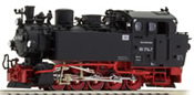 German Steam Locomotive BR 99 1714-7 of the DR