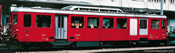 Gear Baggage Motor Coach BDeh 2/4 43 in dark red of the FO