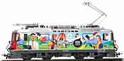 Swiss Electric Locomotive Ge 4/4 II 611 as advertising log in RhB