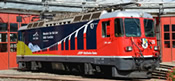 Swiss Electric Advertising Locomotive Ge 4/4 II 620 RhB Club of the RhB