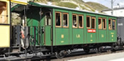 Swiss Passenger Car L.D. C. 66 of the Landquart-Davos Bahn