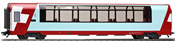 1st Class Panorama car Api 1312 Glacier Express of the RhB