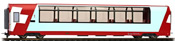 1st Class Panorama car Ap 1315 Glacier Express of the RhB