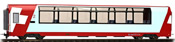 2nd Class Panorama coach Bp 2536 Glacier-Express of the RhB