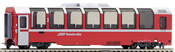 2nd Class Panorama Passenger Coach Bp 2522 Bernina-Express