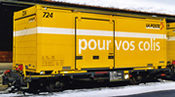 Swiss Lb-v 7865 Postal Container 724 pour vos colis of the RhB