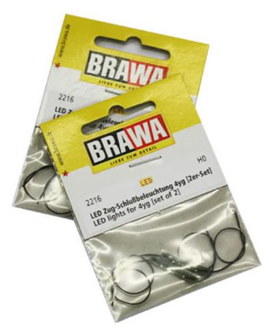 Brawa 2216 - LED lights for Passenger Coaches 4yg - Set of 2