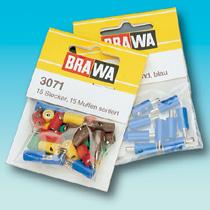 Brawa 3042 - Socket round, red [10 pieces]