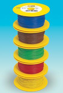 Brawa 3111 - Wire 0,14 mm², 100 m drum, ye