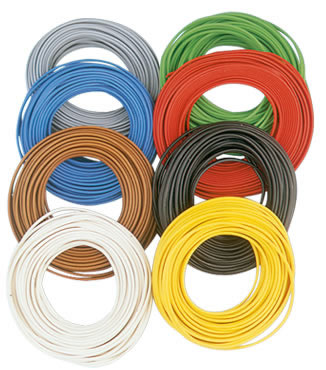 Brawa 3145 - Wire 0,2 mm², 10 m ring, blue