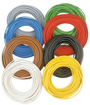 Brawa 3149 - Wire 0,2 mm², 10 m ring, whit