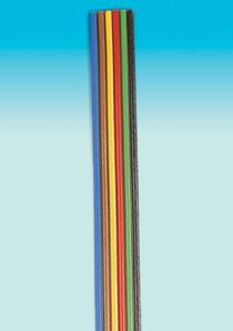 Brawa 3186 - Fl. Cable 0,14 mm² 5 m bu/br/