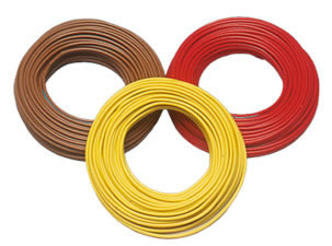 Brawa 3211 - Wire 0,25 mm², 25 m drum, red