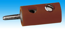 Brawa 3704 - Pin Connector, brown [100 pie