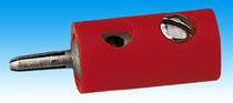 Brawa 3752 - Plug, red [10 pieces]