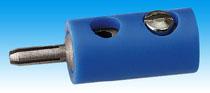Brawa 3755 - Plug, blue [10 pieces]