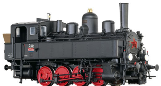 Brawa 40794 - Czechoslovakian Tender Locomotive BR 422 of the CSD (DC Digital Extra w/Sound)