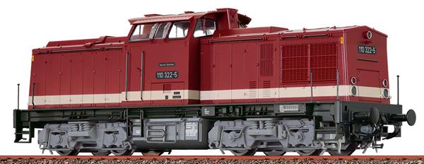 Brawa 41287 - German Diesel Locomotive 110 of the DR (DCC Sound Decoder)