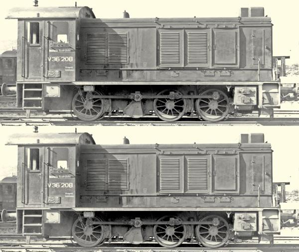 Brawa 41636 - German 2pc Diesel Locomotive V36 DGEG Set of the DB Doppeltes Lottchen (DC Digital Extra w/Sound)