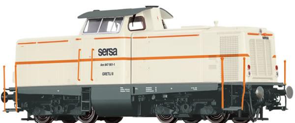 Brawa 42875 - Swiss Diesel Locomotive Serie Am847 Sersa (AC Digital Extra w/Sound)