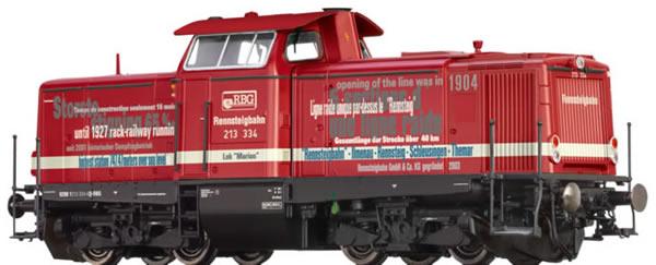 Brawa 42884 - German Diesel Locomotive BR 213 MARION of the Rennsteigbahn