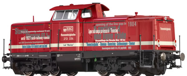 Brawa 42886 - German Diesel Locomotive BR 213 MARION of the Rennsteigbahn