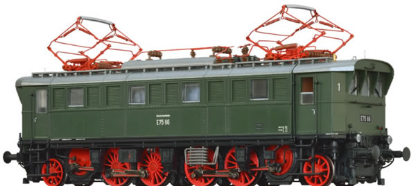 Brawa 43216 - German Electric Locomotive BR E75 of the DB BASIC+