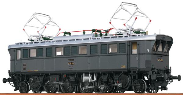 Brawa 43239 - German Electric Locomotive E75 of the DRG (AC Digital Extra w/Sound)