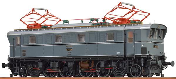 Brawa 43240 - German Electric Locomotive E75 of the DB AG (DC Analog Basic Plus)