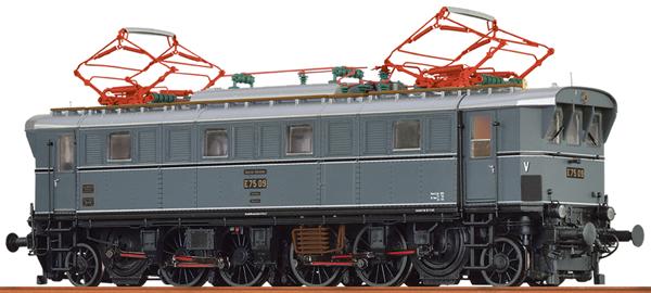 Brawa 43242 - German Electric Locomotive E75 of the DB AG (DC Digital Extra w/Sound)