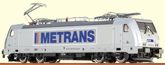 Brawa 43939 - German TRAXX Electric Locomotive BR 186 METRANS - Digital EXTRA (Sound Decoder)