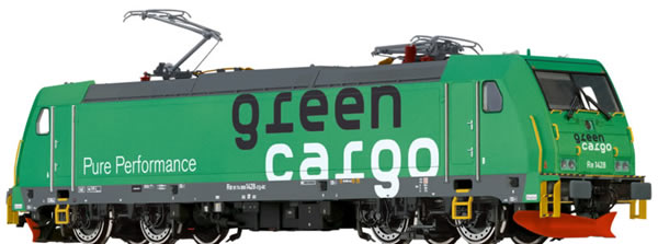 Brawa 43969 - Swedish Electric Locomotive Re 1428 GreenCargo EXTRA (AC Sound)