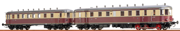 Brawa 44385 - German Diesel Railcar VT137 + VB147 of the DRG (AC Digital Extra w/Sound)