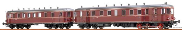 Brawa 44386 - German Diesel Railcar VT62.9 + VB147 of the DB (DC Analog Basic Plus)