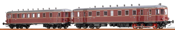 Brawa 44388 - German Diesel Railcar VT62.9 + VB 147 of the DB (DC Digital Extra w/Sound)