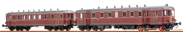 Brawa 44389 - German Diesel Railcar VT62.9 + VB 147 of the DB (AC Digital Extra w/Sound)