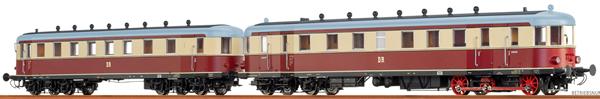 Brawa 44394 - German Diesel Railcar VT137 + VB 147 of the DR (DC Analog Basic Plus)