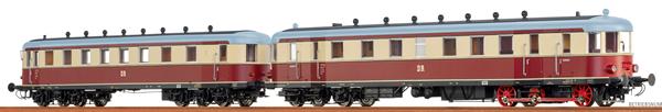 Brawa 44396 - German Diesel Railcar VT137 + VB 147 of the DR (DC Digital Extra w/Sound)