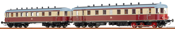 Brawa 44397 - German Diesel Railcar VT137 + VB 147 of the DR (AC Digital Extra w/Sound)