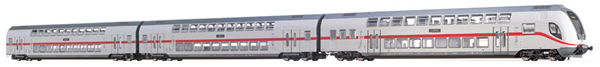 Brawa 44514 - German 3pc TWINDEXX Vario IC-Double-Deck Coaches of the DB AG (AC Digital Extra)