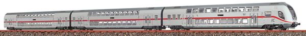 Brawa 44521 - 3pc Double Decker Set IC2 688.2/682.2