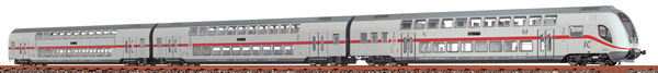 Brawa 44527 - 3pc Double Decker Set IC2 688.2/682.2