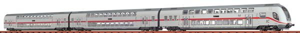 Brawa 44530 - 3pc Double Decker Set IC2 688.2/682.2