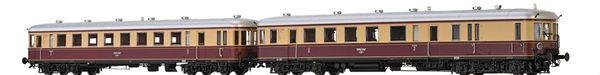 Brawa 44702 - German 2pc Diesel Railcar BR VT137 and Trailer BR VS145 of the DRG (DC Digital Extra w/Sound)