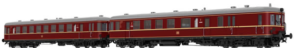 Brawa 44704 - German 2pc Diesel Railcar BR VT60.5 and Trailer BR VS145 of the DB (DC Analog Basic Plus)