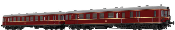 Brawa 44705 - German 2pc Diesel Railcar BR VT60.5 and Trailer BR VS145 of the DB (AC Digital Basic Plus)