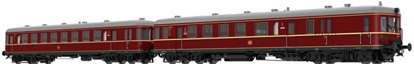 Brawa 44706 - German 2pc Diesel Railcar BR VT60.5 and Trailer BR VS145 of the DB (DC Digital Extra w/Sound)