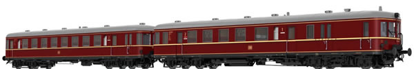 Brawa 44707 - German 2pc Diesel Railcar BR VT60.5 and Trailer BR VS145 of the DB (AC Digital Extra w/Sound)