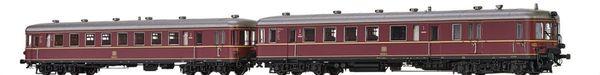 Brawa 44710 - German 2pc Diesel Railcar BR 660 and Trailer VS945 of the DB (DC Digital Extra w/Sound)
