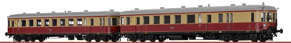 Brawa 44716 - 2pc German Railcar VT137+VS145 of the DRG